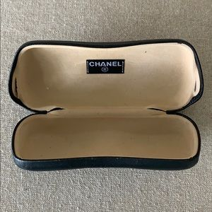 Authentic Chanel black eyeglass/sunglass case